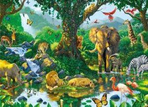 puzzle  Ravensburger 500 dílků   Africká zvířata   141715
