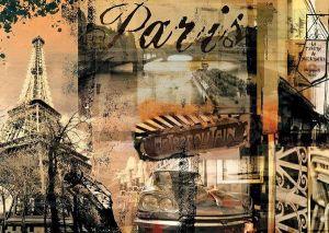 1000 dílků   vzpomínky z Paříže  -   puzzle Ravensburger