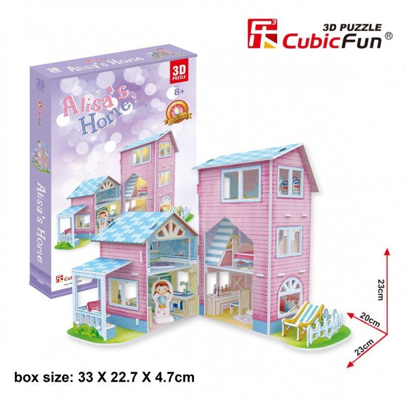 3 D Puzzle CubicFun - Domeček pro panenky Alisa´s Home 73 dílků 30689 Cubic Fun