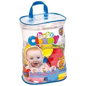 Clemmy Baby   24 barevných kostek v plastovém pytli