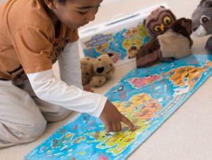 CzuCzu Puzzle Mapa světa - zvířata 60 dílků