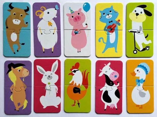 CzuCzu Puzzle Domácí zvířátka - párování 10 x 2 dílky
