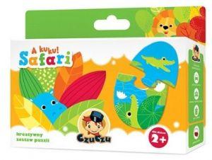 CzuCzu  Puzzle Safari zvířátka  - párování 7 x 2 dílky