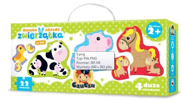 CzuCzu Puzzle Zvířátka 4, 5, 6 a 7 = 22 dílků