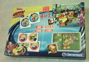 EDUKIT - hry Clementoni  -  4v1 Mickey Mouse - závodníci  13760
