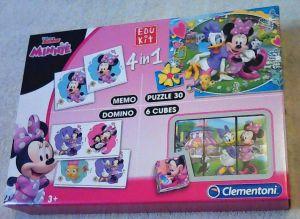 EDUKIT - hry Clementoni  -  4v1 Minnie Mouse - šťastní pomocníci 13761