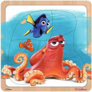 Eichhorn - dřevěné puzzle  Hledá se Dory 7 dílků - Hank a Dory
