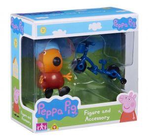 Peppa Pig - prasátko Peppa - figurka s doplňky - Lišák Ferda s kolem