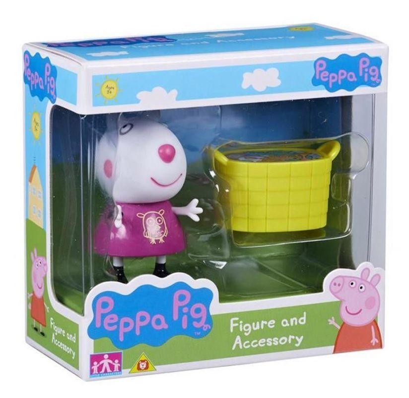 Peppa Pig - prasátko Peppa - figurka s doplňky - Ovečka Zuzanka s košem TM Toys