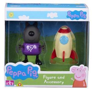 Peppa Pig - prasátko Peppa - figurka s doplňky - Pejsek Danny s raketou