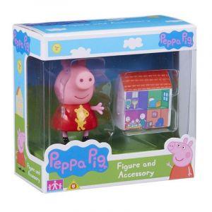 Peppa Pig - prasátko Peppa - figurka s doplňky - Peppa s domečkem