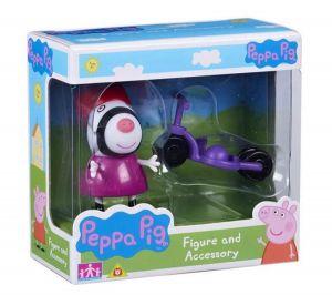 Peppa Pig - prasátko Peppa - figurka s doplňky - Zebra Zoe s trojkolkou