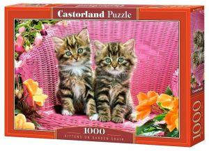 Puzzle Castorland  1000 dílků -  Kočičky v křesílku  103775