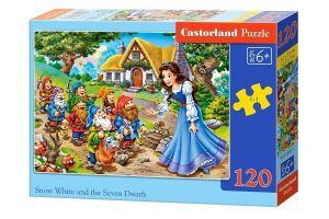 Puzzle Castorland 120 dílků - Sněhurka a sedm trpaslíků    13401