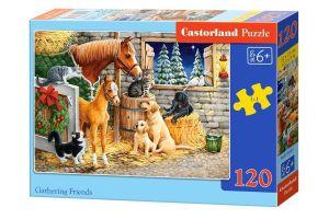 Puzzle Castorland 120 dílků - zvířátka na farmě   13340