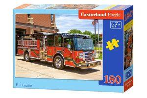 Puzzle Castorland 180 dílků - hasičské auto   018352