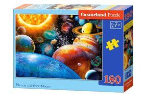 Puzzle Castorland 180 dílků - planety a jejich měsíce   018345