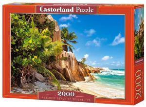 Puzzle Castorland 2000 dílků  romantická pláž  Seyschely  200665