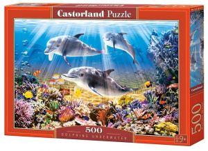 Puzzle Castorland 500 dílků - delfíni   52547