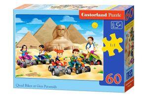Puzzle Castorland 60 dílků - čyřkolky u pyramid  066018