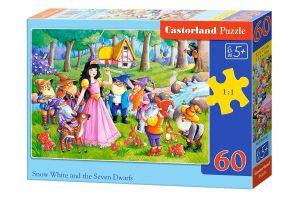 Puzzle Castorland 60 dílků - Sněhurka a sedm trpaslíků 066032