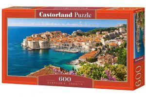 Puzzle Castorland 600 dílků panorama  - Dubrovník Chorvatsko  060283