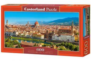 Puzzle Castorland 600 dílků panorama  - Florencie  Itálie   060078