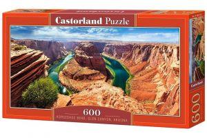 Puzzle Castorland 600 dílků panorama  -  Horseshoe Bend Arizona  060122