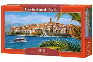 Puzzle Castorland 600 dílků panorama  - Korčula  Chorvatsko  060238