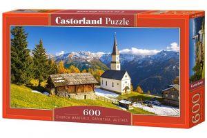Puzzle Castorland 600 dílků panorama  - kostel Marterle Korutany Rakousko 060153