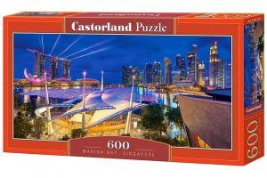 Puzzle Castorland 600 dílků panorama  - Marina Bay Singapur  060139