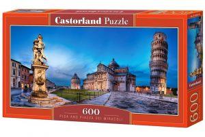 Puzzle Castorland 600 dílků panorama  -  Náměstí Zázraků v Pise 060276