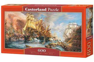 Puzzle Castorland 600 dílků panorama  -  Námořní bitva   060252