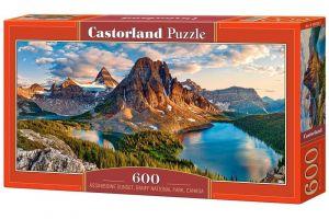 Puzzle Castorland 600 dílků panorama  -  Řeka Assiniboine Národní park Banff   060023