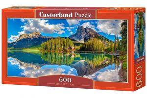 Puzzle Castorland 600 dílků panorama  - Smaragdové jezero Rakousko   060092