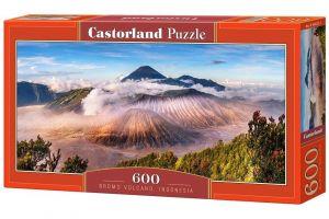 Puzzle Castorland 600 dílků panorama  - Sopka Bromo Indonésie   060214
