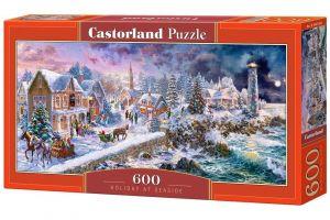 Puzzle Castorland 600 dílků panorama  -  Svátky u moře   060184