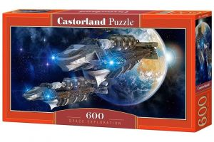 Puzzle Castorland 600 dílků panorama  -  Vesmírný průzkum   060407