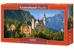 Puzzle Castorland 600 dílků panorama  - Zámek Neuschwanstein Německo  060221