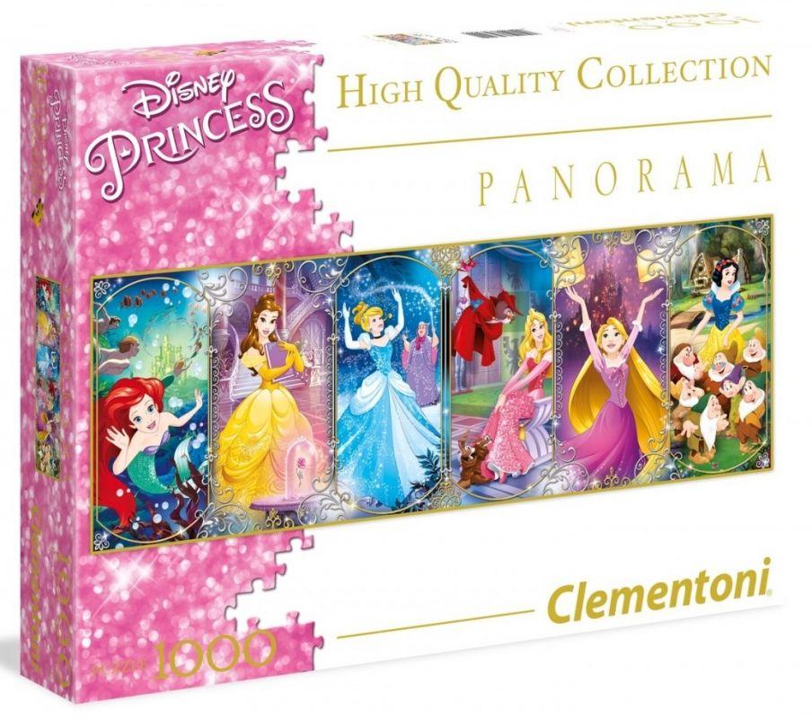Puzzle Clementoni 1000 dílků panorama - Princezny 39390