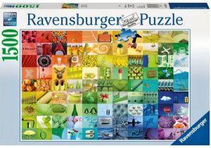 puzzle Ravensburger 1500 dílků  -  Barevná koláž  163229