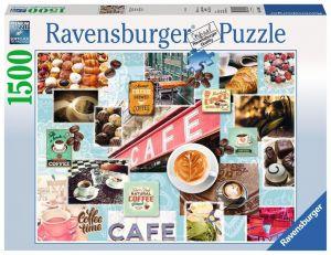 puzzle Ravensburger  1500 dílků  Káva a moučník 163465