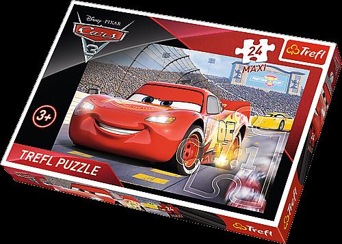 Puzzle Trefl 24 MAXI dílků - CARS 3 - puzzle Trefl 14250