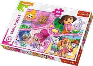 Puzzle Trefl 24 MAXI dílků  - Nickelodeon - Multi - koláž    14260
