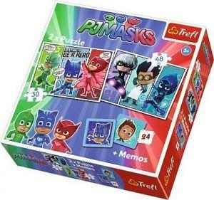 Puzzle Trefl  30 + 48 dílků + hra Memos ( pexeso ) Pyžamasky  90710