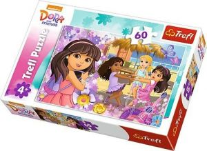 Puzzle Trefl 60 dílků  - Dora a přítelkyně    17296