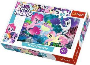 Puzzle Trefl 60 dílků  - My Little Pony the Movie  - podvodní koníčci  17298