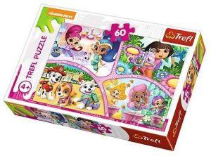 Puzzle  Trefl  60 dílků  - Nickelodeon - Multi - koláž  17309