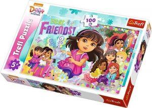 Trefl Puzzle 100 dílků - Dora a přátelé  -  16311