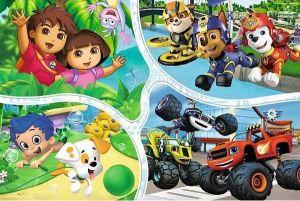 Trefl Puzzle 100 dílků - Nickelodeon - Multi - koláž  16332
